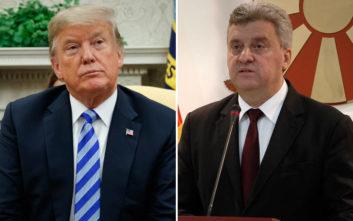 Τραμπ σε Ιβάνοφ: Ιστορική η συμφωνία των Πρεσπών