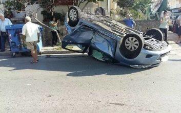 Γυναίκα και τα δύο της παιδιά τραυματίστηκαν σε τροχαίο στα Χανιά