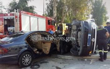 Σοβαρό τροχαίο με τέσσερις τραυματίες στα Χανιά