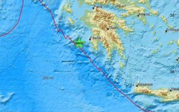 Σεισμός τώρα ανοιχτά της Μεσσηνίας