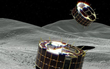 Δύο μικρά ρομποτικά «ρόβερ» που χοροπηδάνε στον αστεροειδή Ριούγκου