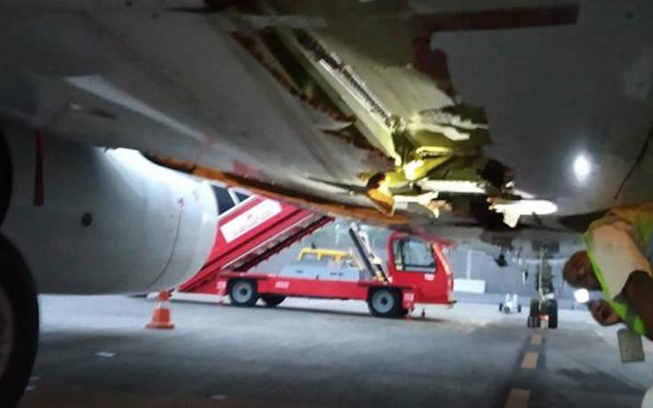 Αεροσκάφος στην Ινδία προσέκρουσε σε τοίχο κατά την απογείωσή του