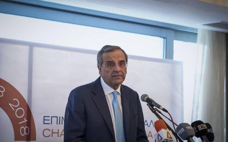 Σαμαράς: Ξεπουλάνε τη Μακεδονία για να αποφύγουν προσωρινά μείωση συντάξεων