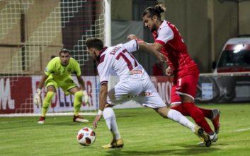 Δύσκολη νίκη με 1-0 η Ξάνθη απέναντι στους 9 παίκτες της Λάρισας