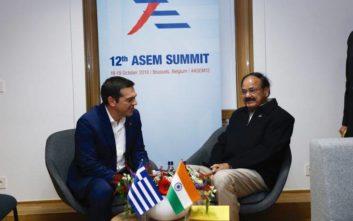 Τι συζήτησε ο Τσίπρας με τους αντιπροέδρους της Ινδίας και της Ινδονησίας