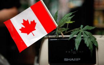 Την κατοχή και χρήση κάνναβης για ψυχαγωγικούς σκοπούς νομιμοποίησε ο Καναδάς
