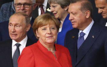 Ερντογάν, Πούτιν, Μέρκελ και Μακρόν συζητούν για τη Συρία