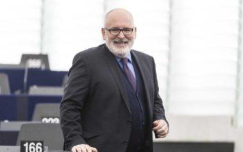 Υποψήφιος διάδοχος του Γιούνκερ στην Κομισιόν ο Φρανς Τίμερμανς