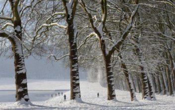 Ασυνήθιστες χιονοπτώσεις σαρώνουν την κεντρική Γαλλία