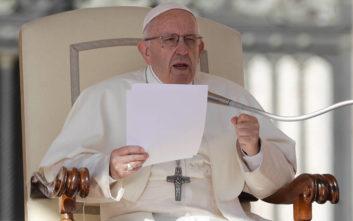 Έκκληση για αυτοσυγκράτηση απευθύνει σε Ουάσινγκτον και Τεχεράνη ο πάπας Φραγκίσκος