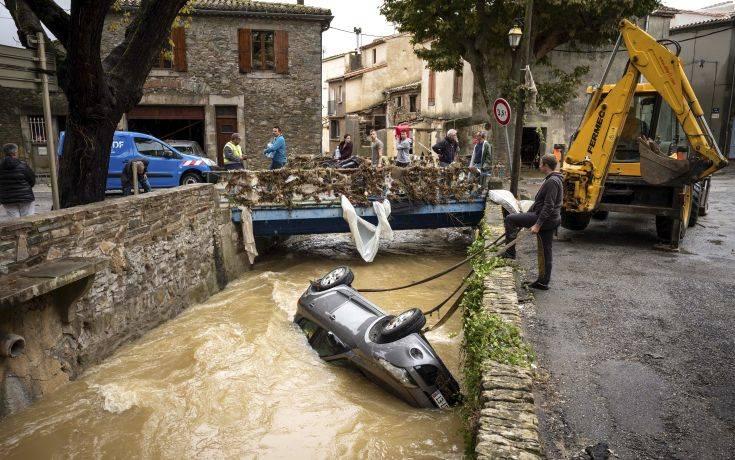 Λιγότεροι τελικά οι νεκροί από τις πλημμύρες στη Γαλλία