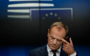 Τουσκ για Brexit: Δε θα σταματήσω να ονειρεύομαι μια καλύτερη και ενωμένη Ευρώπη