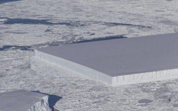 Η απολύτως επιστημονική εξήγηση για το τετράγωνο παγόβουνο της Ανταρκτικής