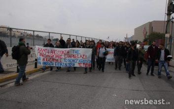 Διαμαρτυρία φοιτητών ΑΕΙ και ΤΕΙ στο υπουργείο Παιδείας