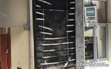 Φωτογραφίες από την επίθεση με μολότοφ στο αλβανικό τουριστικό γραφείο