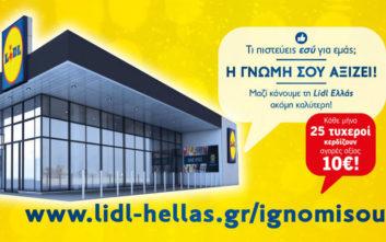 Online έρευνα ανατροφοδότησης των πελατών για τα καταστήματα Lidl