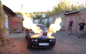 Ρώσος έβαλε τουρμπίνα από MIG-23 σε παλιά BMW