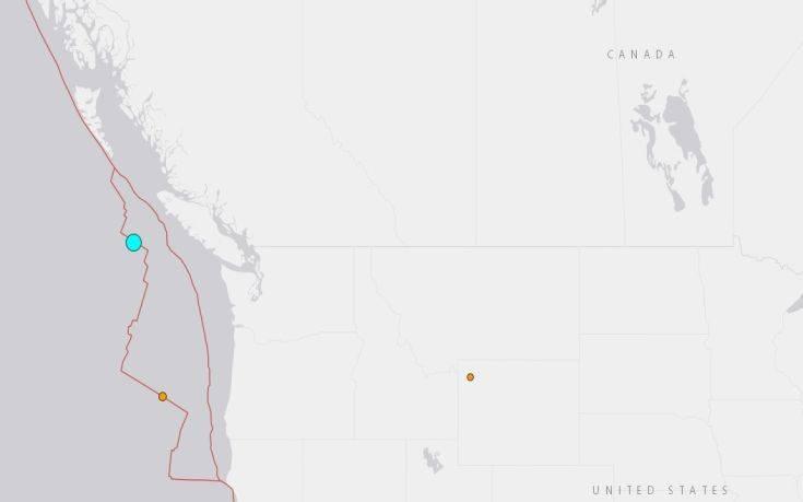 Σεισμός τώρα ανοιχτά του Καναδά