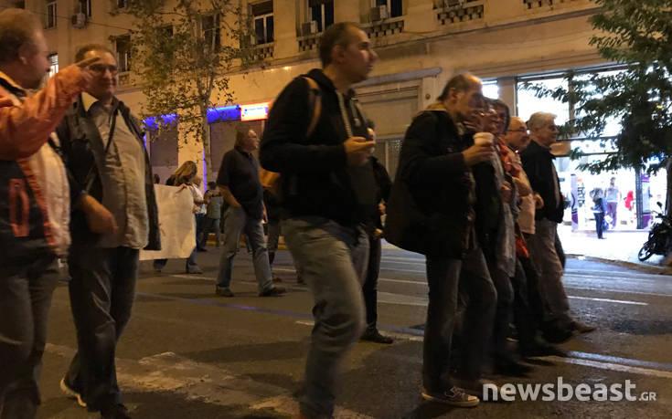 Αντιφασιστική και αντιπολεμική πορεία στο κέντρο της Αθήνας