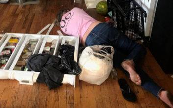 Η καθαρίστρια μέθυσε και έκανε το σπίτι άνω-κάτω