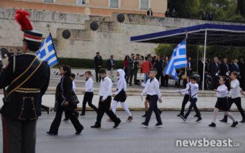 Τελείωσε η μαθητική παρέλαση στην Αθήνα