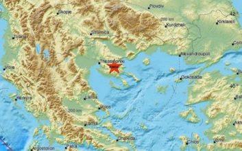 Σεισμός τώρα κοντά στη Θεσσαλονίκη