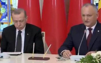 Ο ύπνος πήρε τον Ερντογάν την ώρα συνέντευξης Τύπου