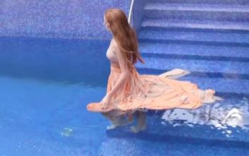 Παίκτρια του Greece's Next Top Model έπαθε πανικό μέσα στην πισίνα