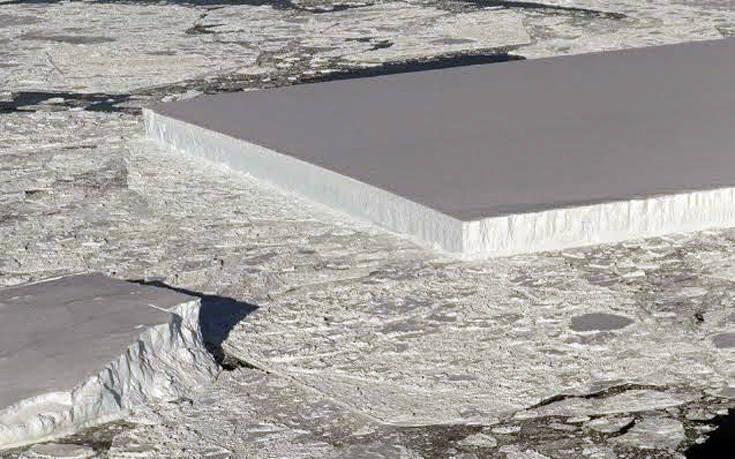 Πρωτοφανές γεωμετρικό παγόβουνο σαν γιγάντιο παγάκι φωτογράφισε η NASA