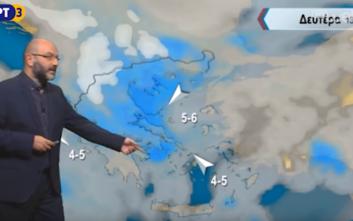 Σάκης Αρναούτογλου: Διαταραχή χειμωνιάτικου τύπου ενδέχεται να αλλάξει τον καιρό
