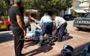 Ζευγάρι τραυματίστηκε σε τροχαίο με μηχανή