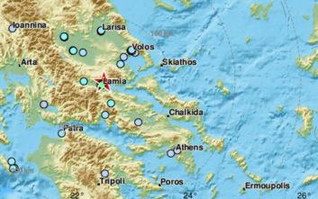 Σεισμός τώρα κοντά στη Λαμία