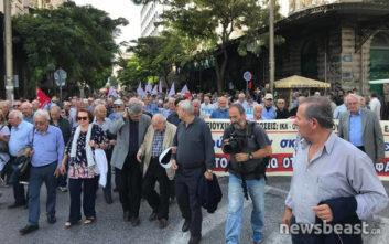 Ξεκίνησε η πορεία των συνταξιούχων στο κέντρο της Αθήνας