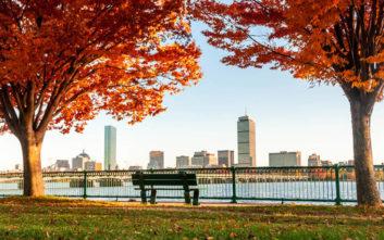 Όμορφες φθινοπωρινές εικόνες στη Βοστόνη