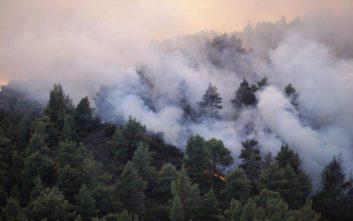 Ολονύχτια μάχη με τις φλόγες και καλύτερη εικόνα στη Σιθωνία
