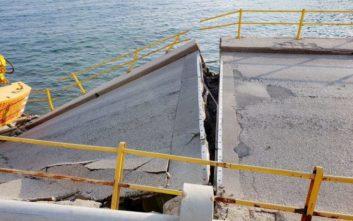 Εκτάκτως στην Καβάλα η Νοτοπούλου μετά την κατάρρευση της γέφυρας