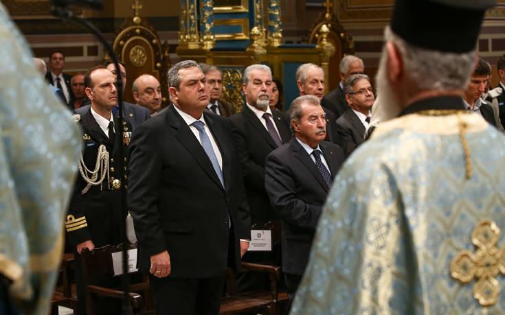 Καμμένος: Όταν Ένοπλες Δυνάμεις και Εκκλησία είναι μαζί, το έθνος δεν φοβάται τίποτα