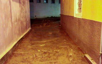 Πλημμύρες από την κακοκαιρία στη Λέσβο