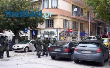 Πετροπόλεμος και χημικά στη Θεσσαλονίκη