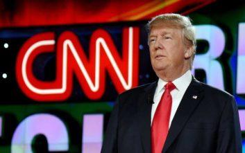 Προσωρινή ανακωχή ανάμεσα σε Τραμπ και CNN