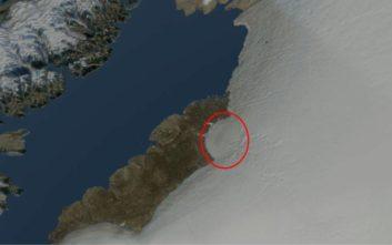 Κρατήρας μεγαλύτερος από την Αττική κάτω από τους πάγους της Γροιλανδίας