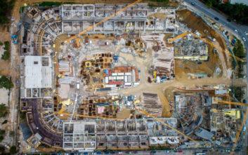 Φωτογραφίες από ψηλά των έργων στο γήπεδο της ΑΕΚ