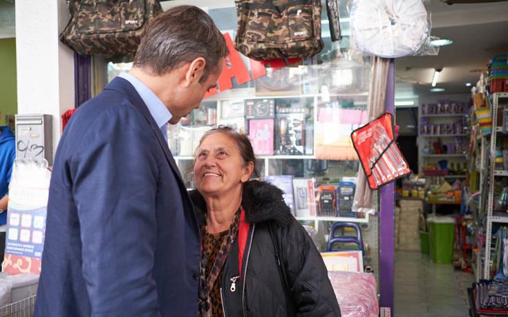Η επίσκεψη του Κυριάκου Μητσοτάκη στην Κυψέλη