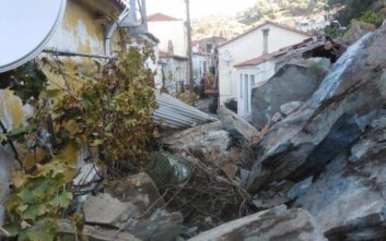 Νύχτα τρόμου στη Λέσβο μετά από κατολίσθηση βράχων