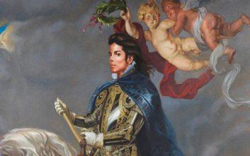 Ο Μάικλ Τζάκσον έφιππος ως βασιλιάς Φίλιππος ο Β΄ της Ισπανίας