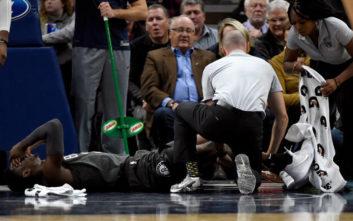 Σοκαριστικός τραυματισμός στο NBA