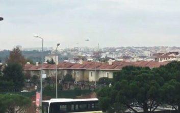 Οι πρώτες εικόνες από το ελικόπτερο που συνετρίβη μέσα στην Κωνσταντινούπολη