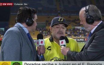 Σε άσχημη κατάσταση ο Μαραντόνα δίνει συνέντευξη στη μεξικάνικη τηλεόραση