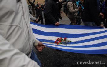 Ξεκίνησε η πορεία με την αιματοβαμμένη σημαία του Πολυτεχνείου