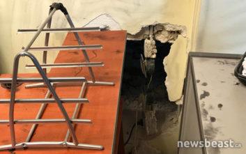 Εικόνες από το ριφιφί σε γραφείο στο κέντρο της Αθήνας